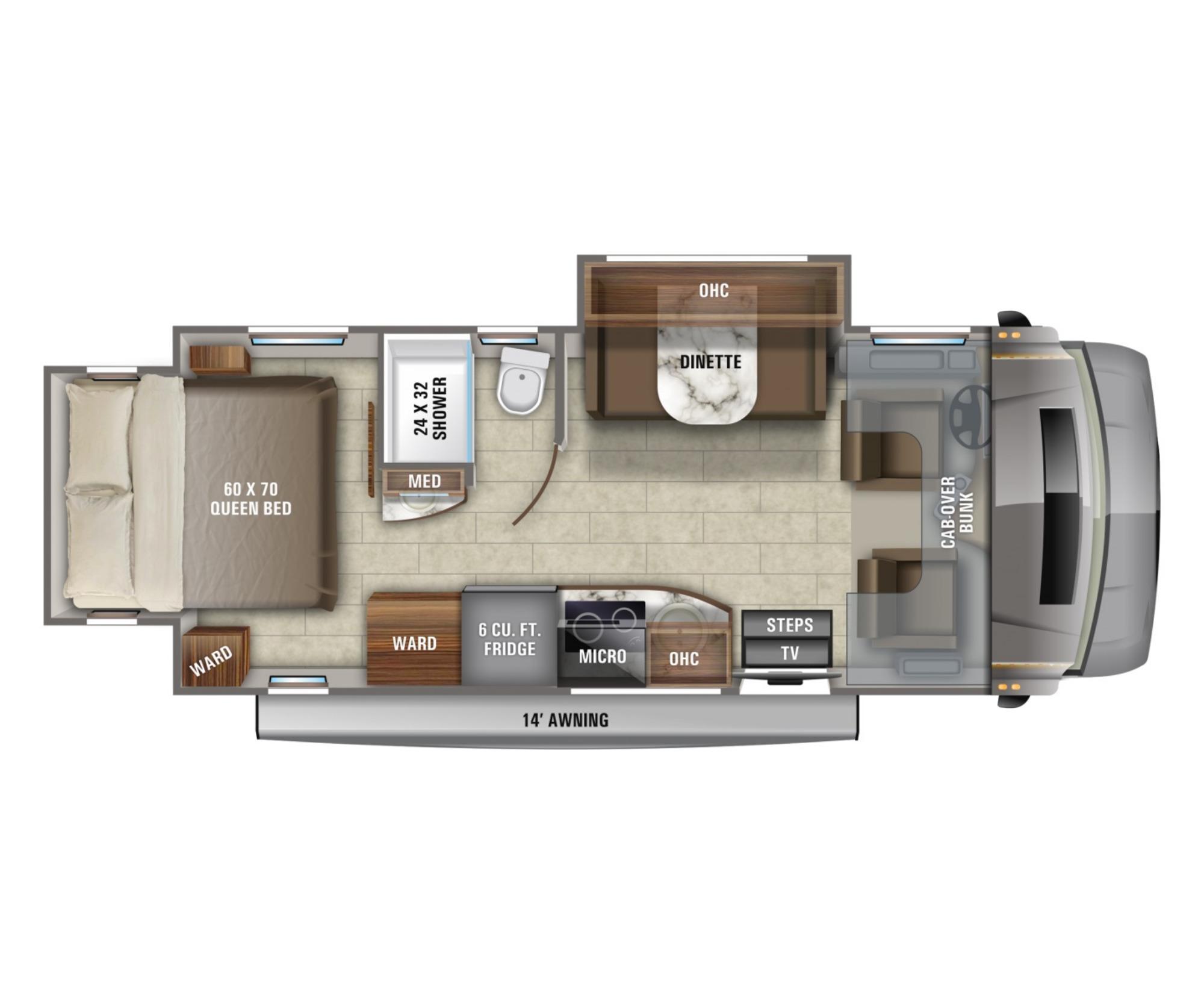 View Floor Plan for 2021 JAYCO MELBOURNE PRESTIGE 24KP