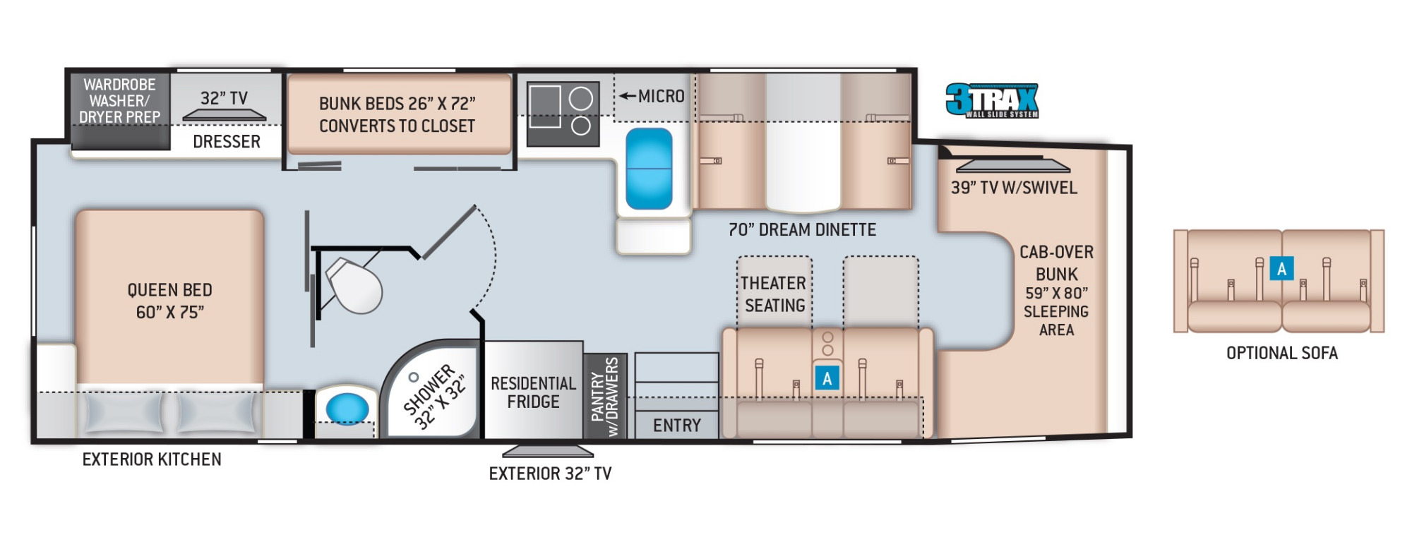 View Floor Plan for 2021 THOR MAGNITUDE RB34