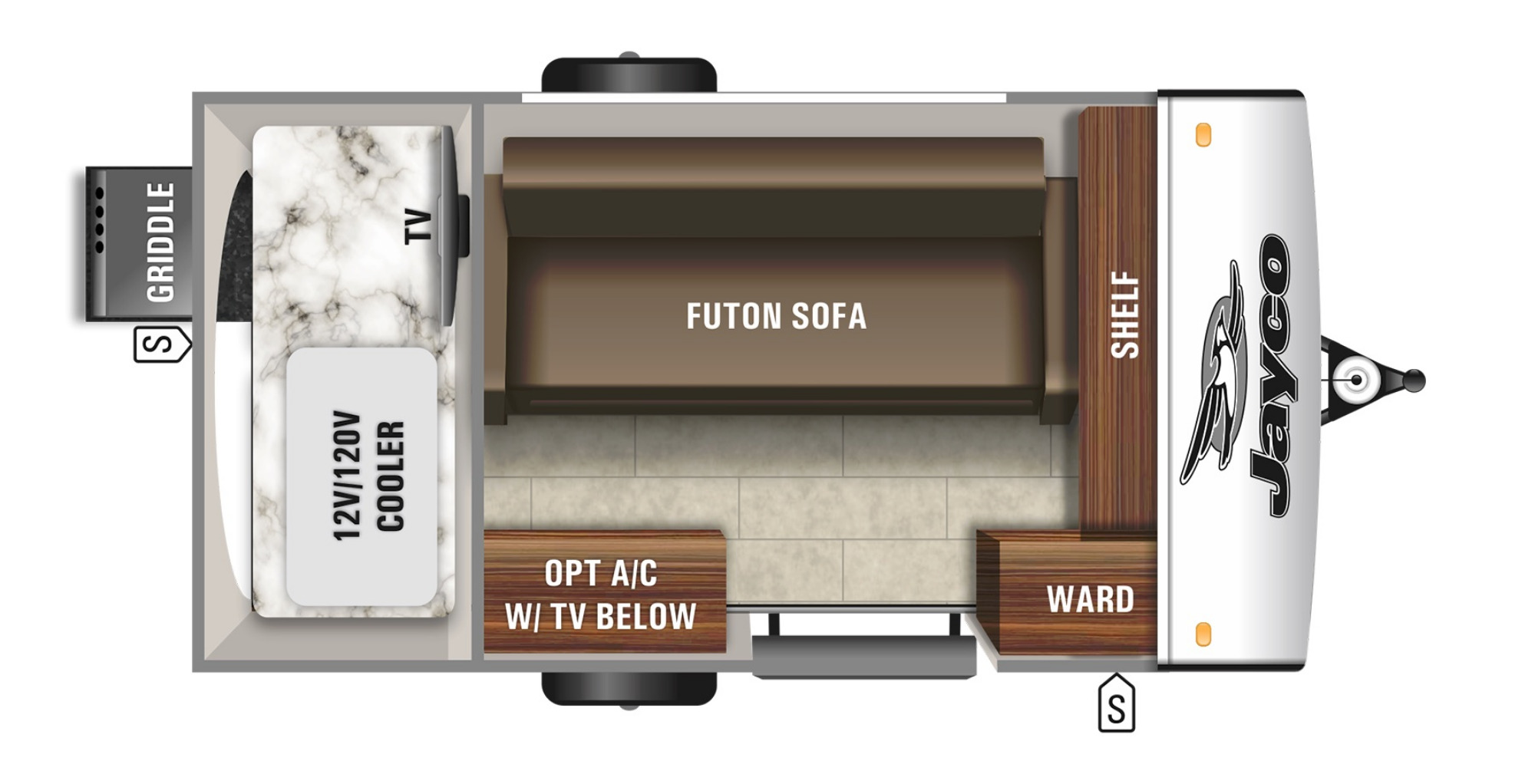 View Floor Plan for 2021 JAYCO JAY FEATHER MICRO 12SRK