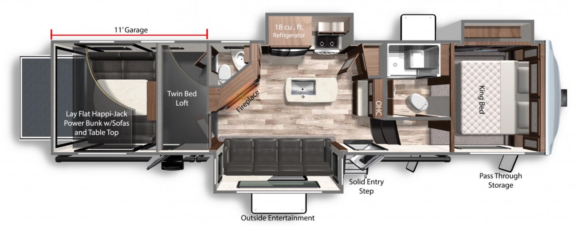 View Floor Plan for 2021 DUTCHMEN VOLTAGE 3615