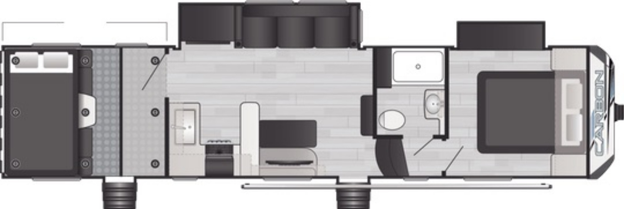 View Floor Plan for 2021 KEYSTONE CARBON 338
