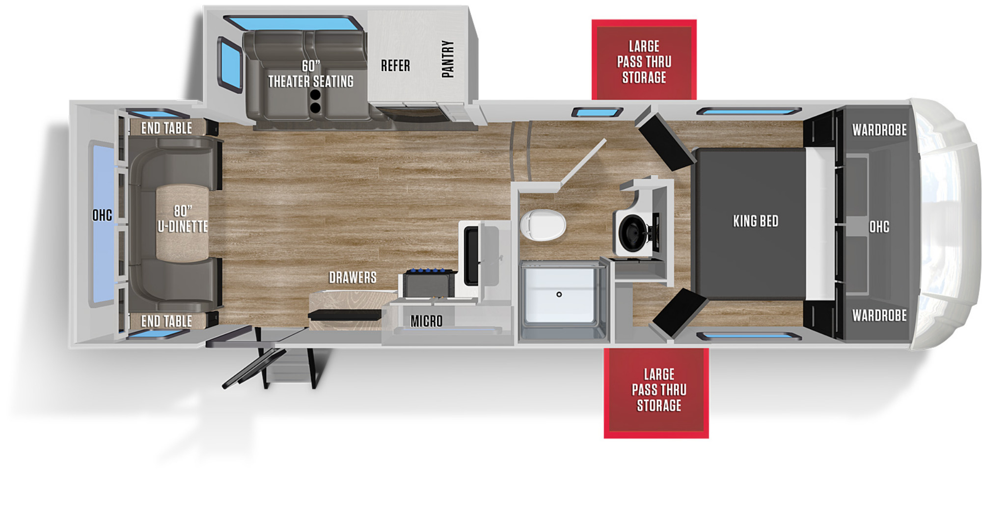 View Floor Plan for 2021 FOREST RIVER WILDCAT 260RD