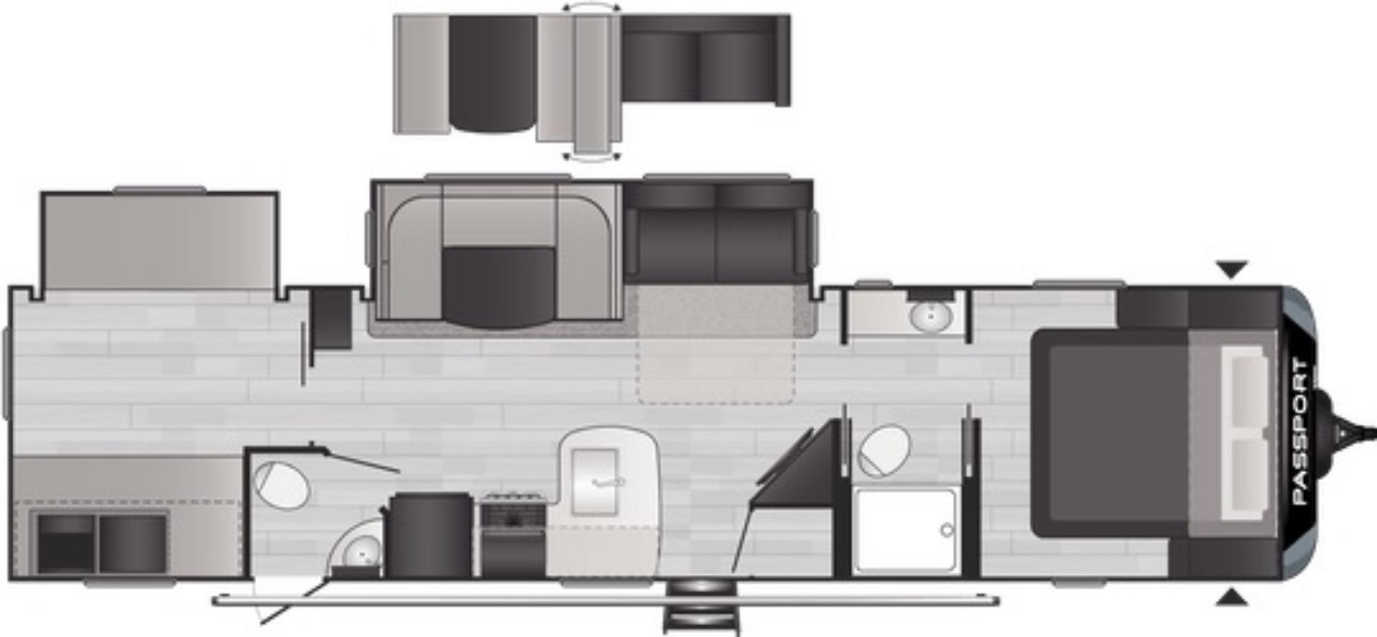 View Floor Plan for 2021 KEYSTONE PASSPORT 3352BH