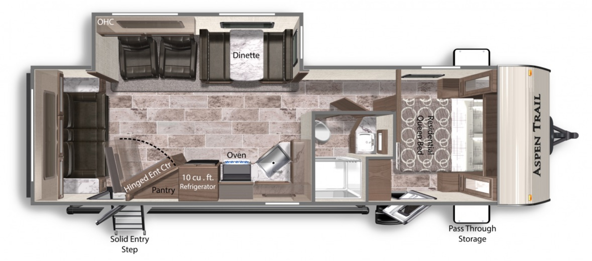 View Floor Plan for 2021 DUTCHMEN ASPEN TRAIL 2860RLS