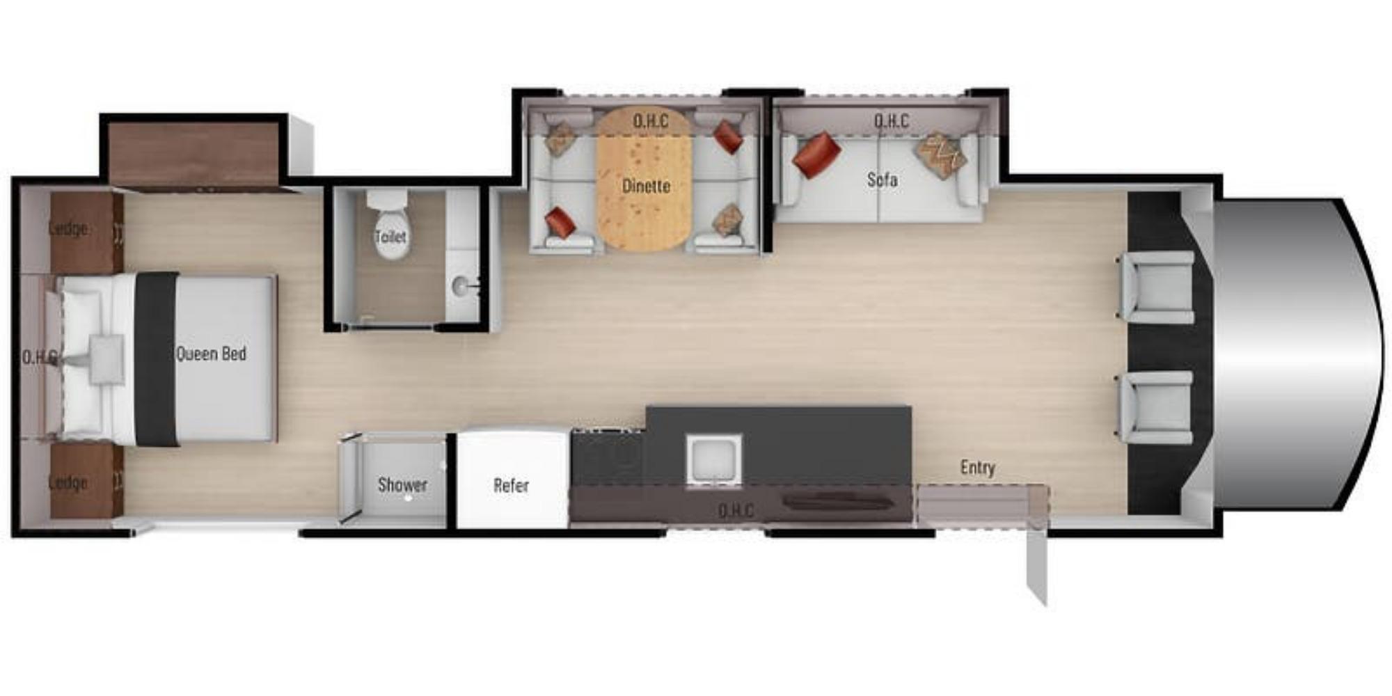 View Floor Plan for 2021 NEXUS RV TRIUMPH 31T