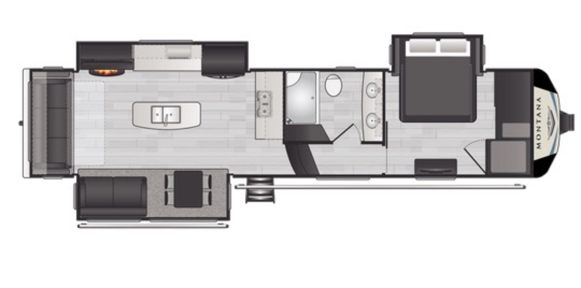 View Floor Plan for 2021 KEYSTONE MONTANA 3230CK