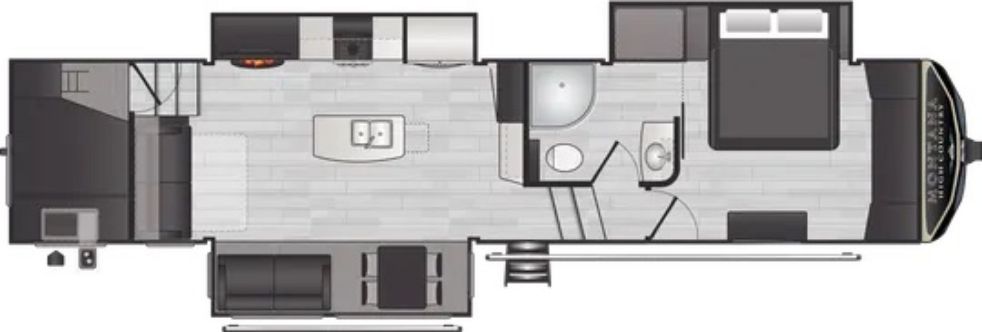 View Floor Plan for 2021 KEYSTONE MONTANA HIGH COUNTRY 350BH