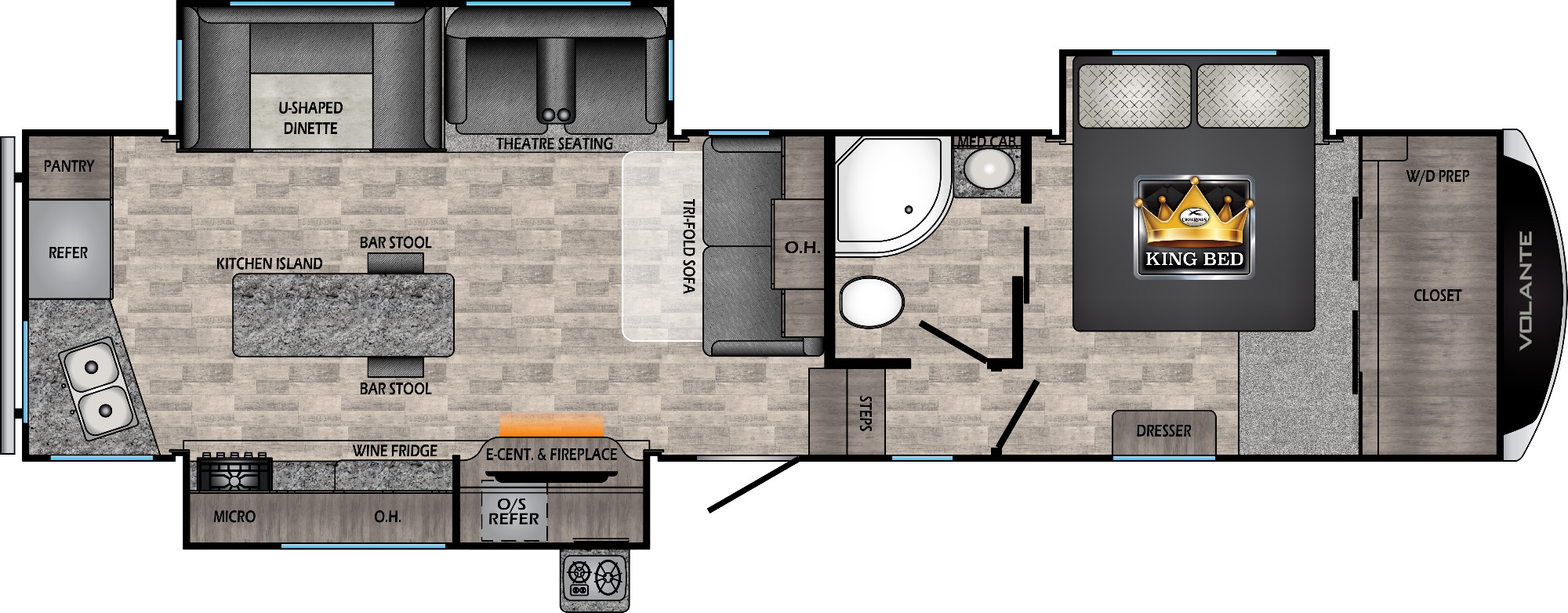 View Floor Plan for 2021 CROSSROADS VOLANTE 326RK