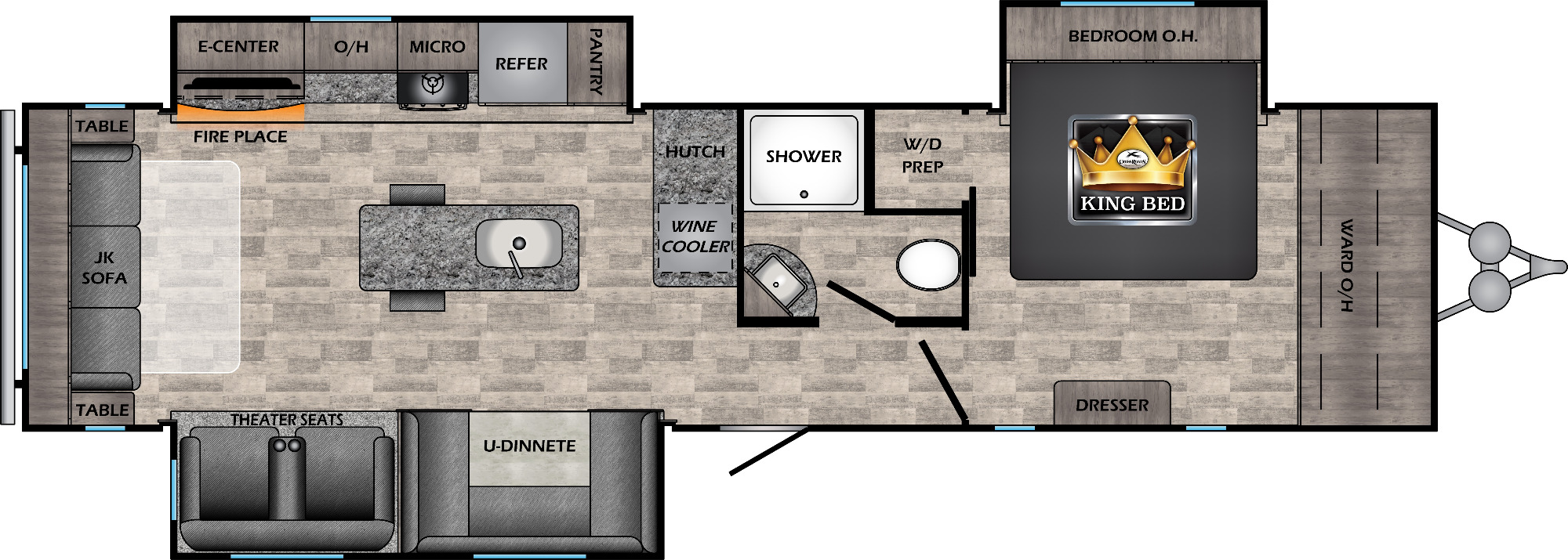 View Floor Plan for 2021 CROSSROADS VOLANTE 34RE