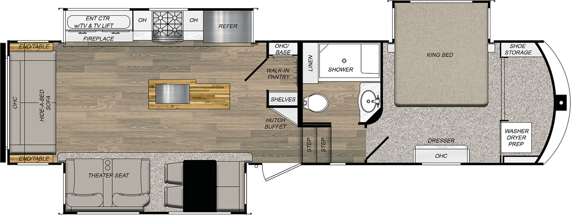 View Floor Plan for 2021 PRIME TIME CRUSADER 335RLP