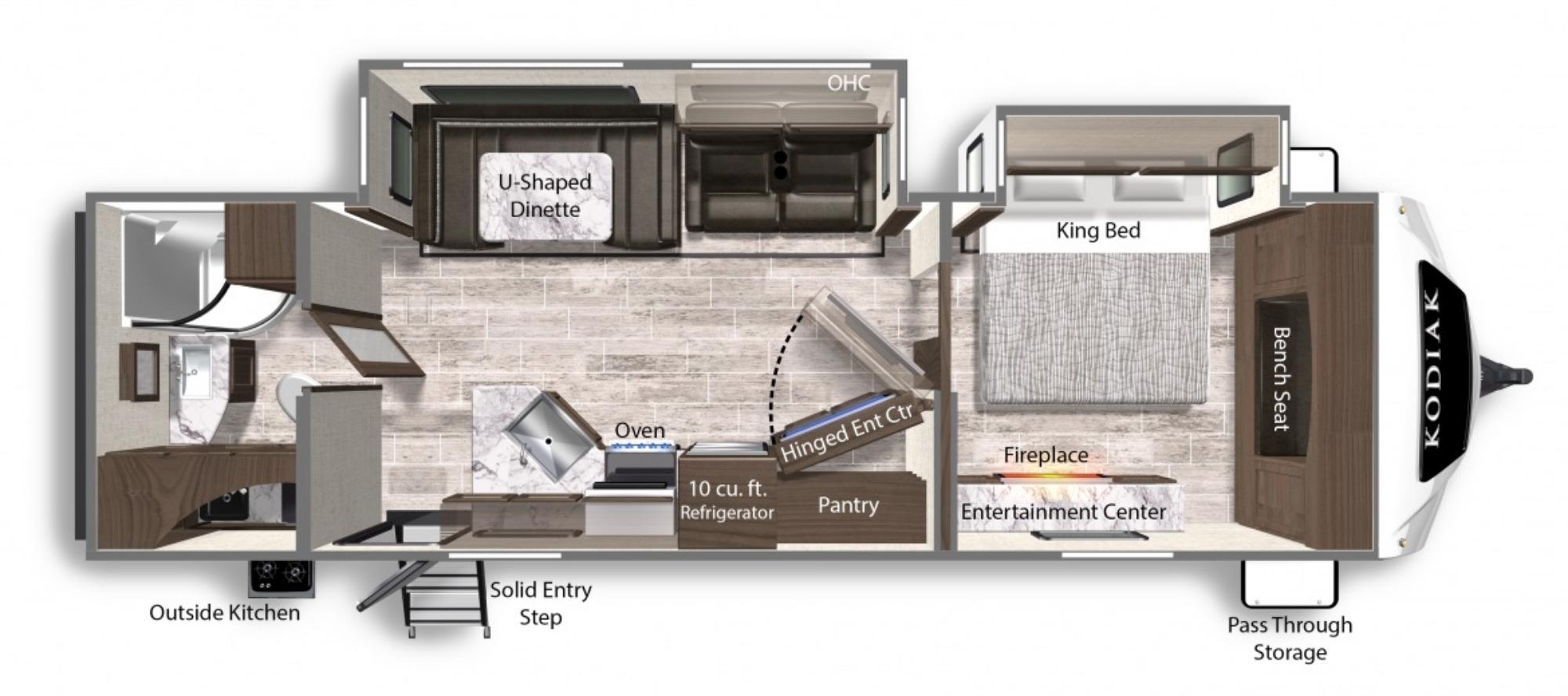 View Floor Plan for 2021 DUTCHMEN KODIAK ULTIMATE 3021RBDS