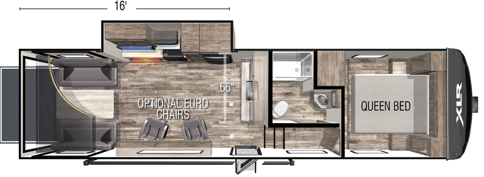 View Floor Plan for 2021 FOREST RIVER XLR BOOST 335LRLE