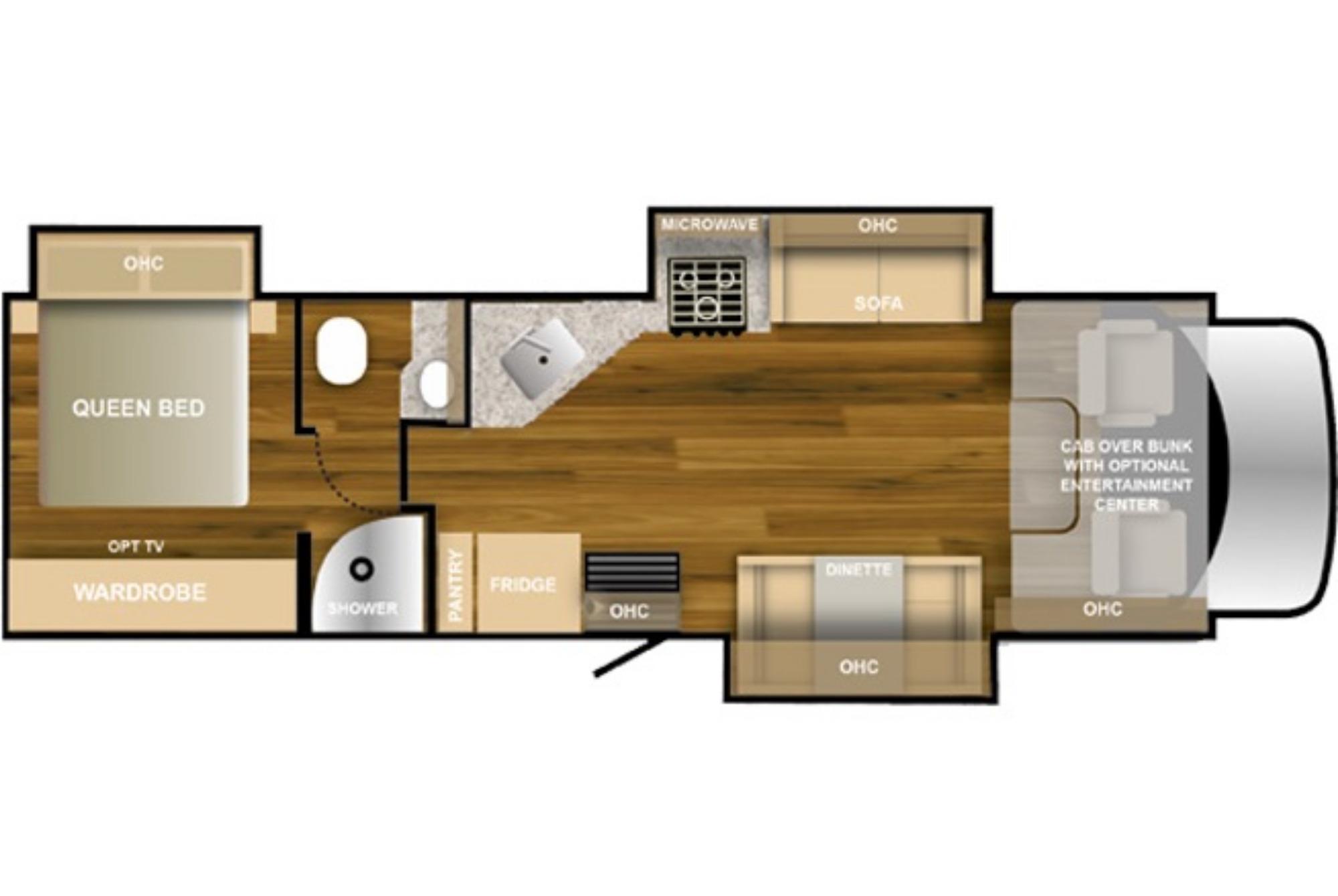 View Floor Plan for 2021 NEXUS RV TRIUMPH SUPER C 33TSC