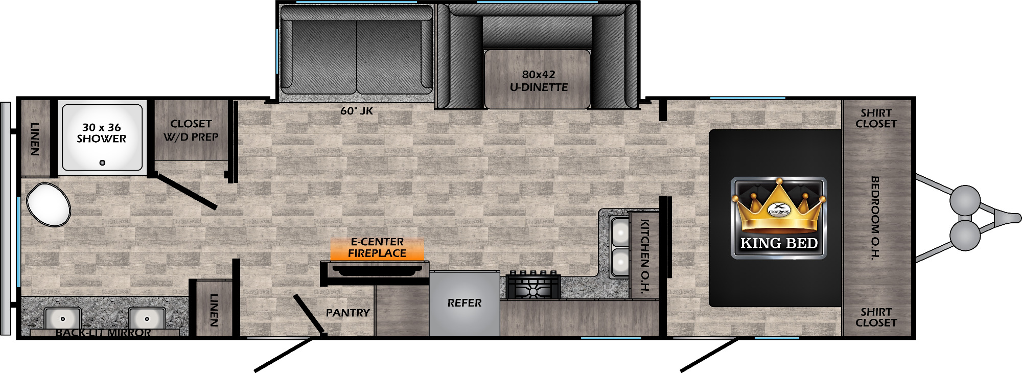 View Floor Plan for 2021 CROSSROADS VOLANTE 29RB
