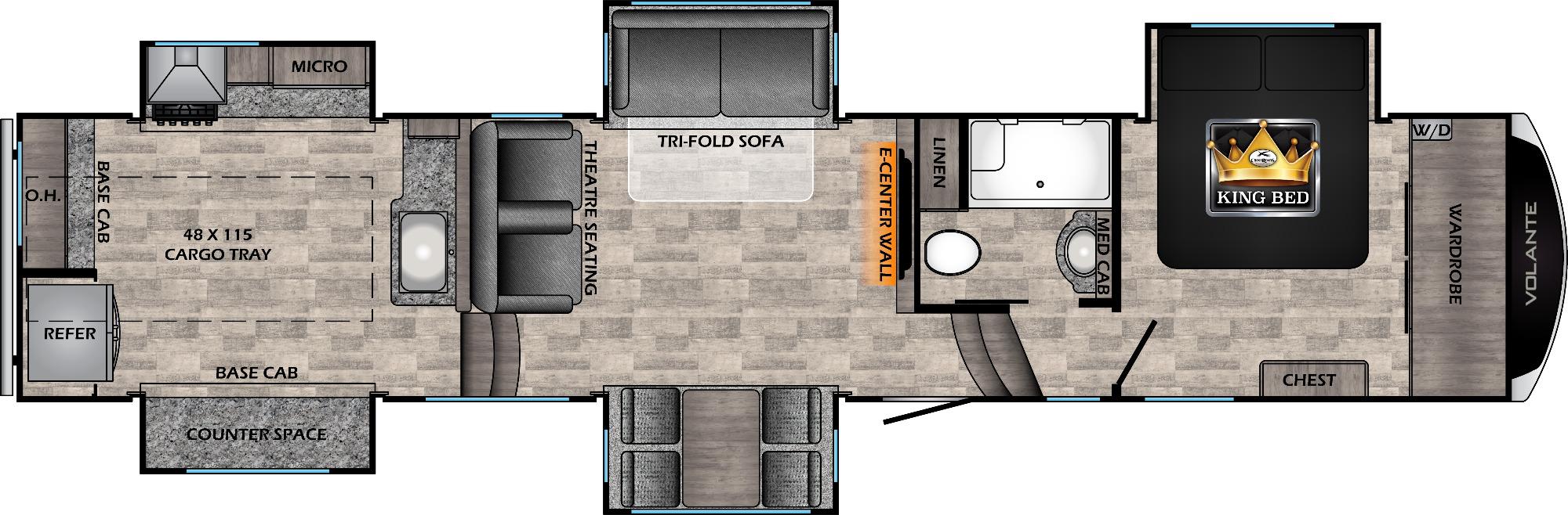 View Floor Plan for 2021 CROSSROADS VOLANTE 3880MK