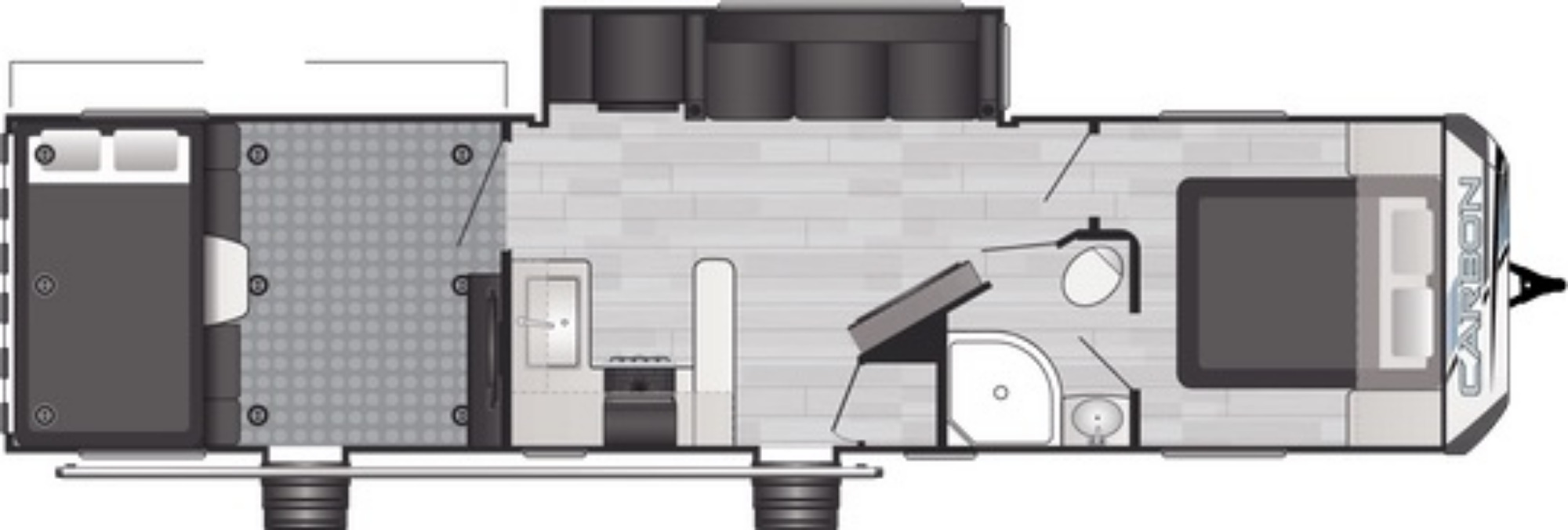 View Floor Plan for 2021 KEYSTONE CARBON 35
