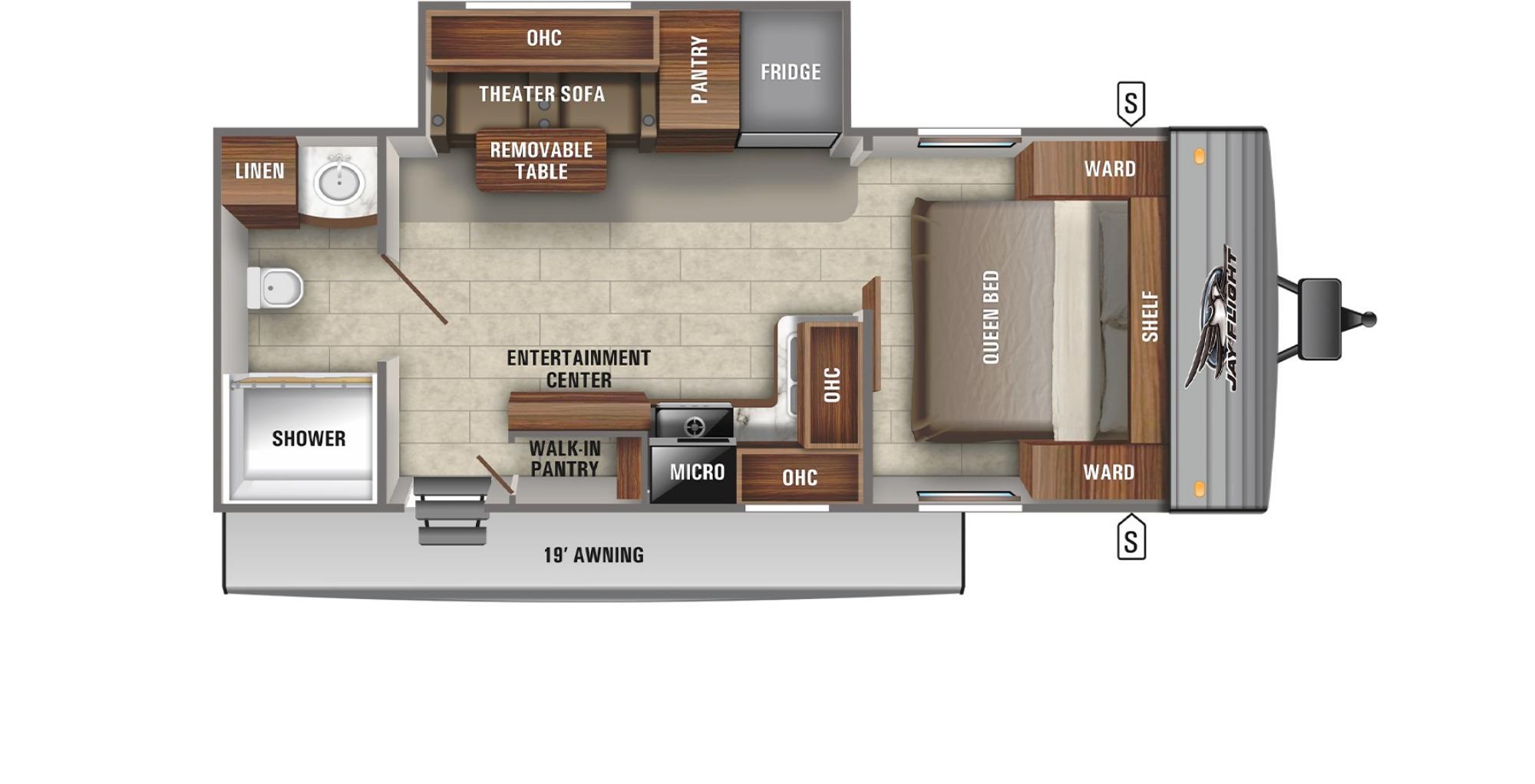View Floor Plan for 2021 JAYCO JAY FLIGHT SLX 237RBSW