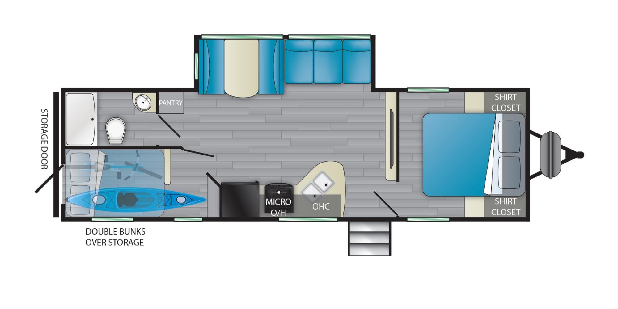 View Floor Plan for 2021 HEARTLAND PROWLER 271BR