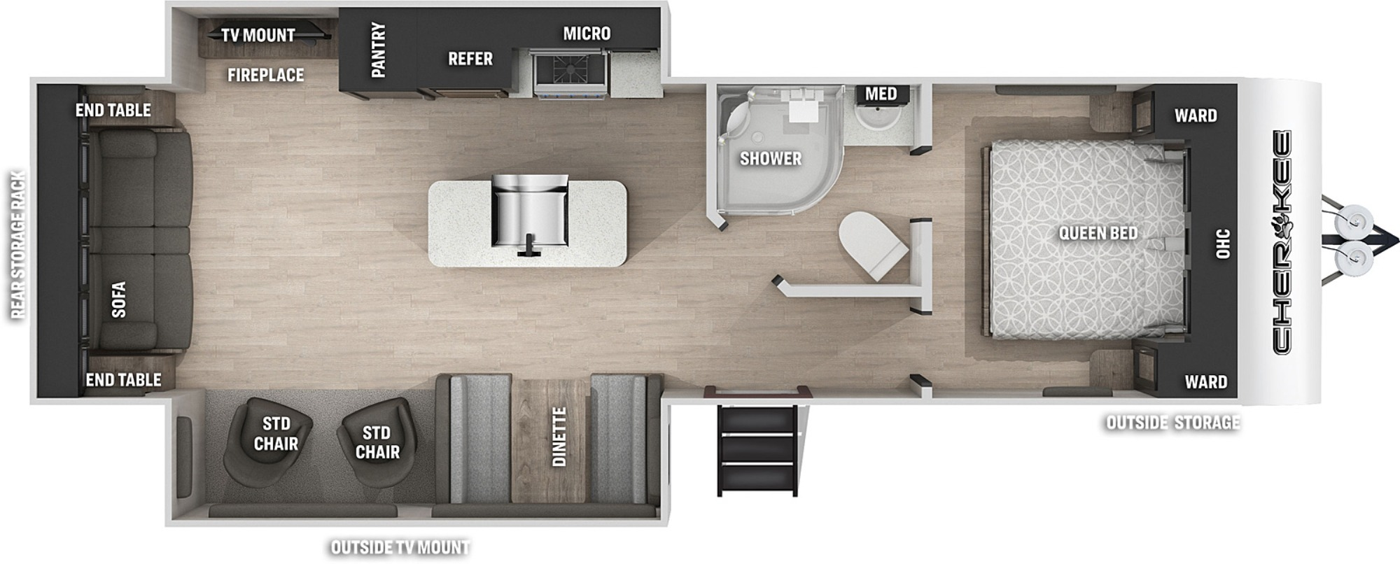 View Floor Plan for 2022 FOREST RIVER CHEROKEE 274WK