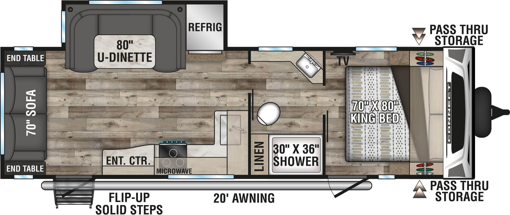 View Floor Plan for 2021 K-Z RV CONNECT 261RL