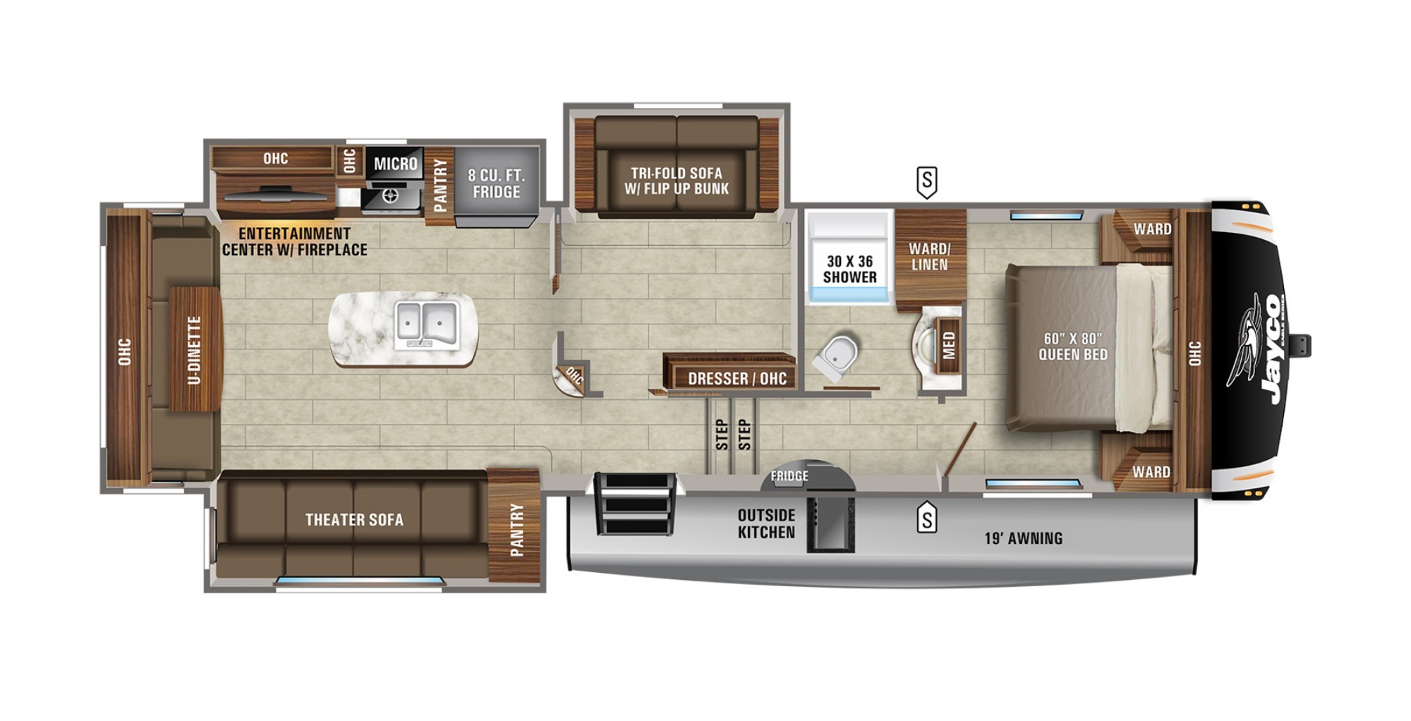 View Floor Plan for 2021 JAYCO EAGLE HT 31MB