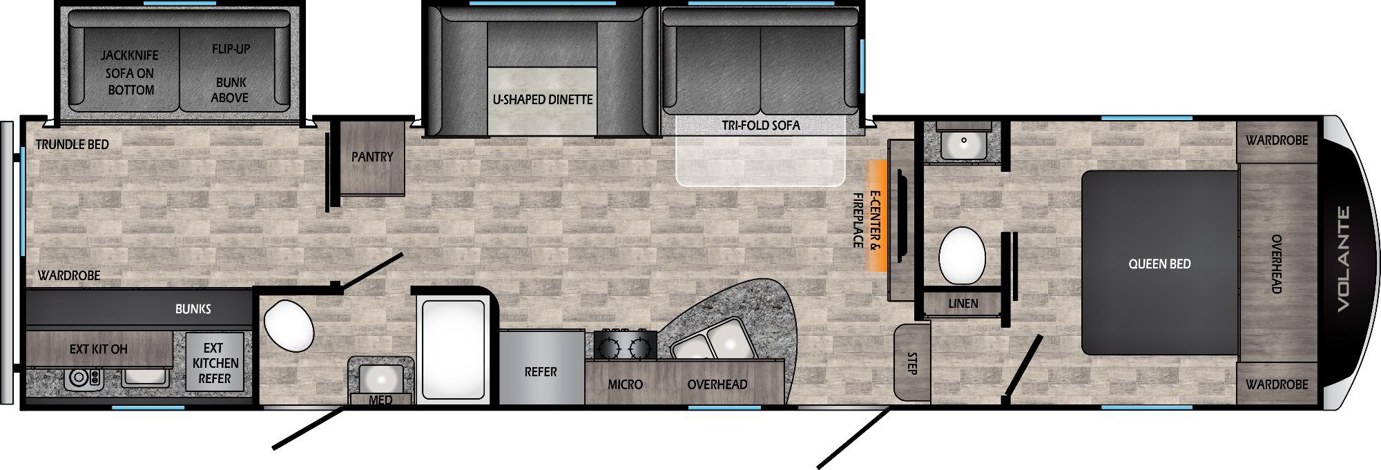 View Floor Plan for 2022 CROSSROADS VOLANTE 310BH