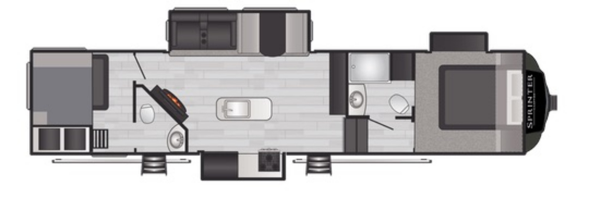 View Floor Plan for 2021 KEYSTONE SPRINTER 35BH