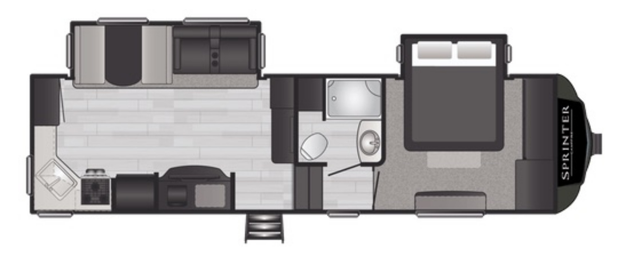 View Floor Plan for 2021 KEYSTONE SPRINTER 27ML