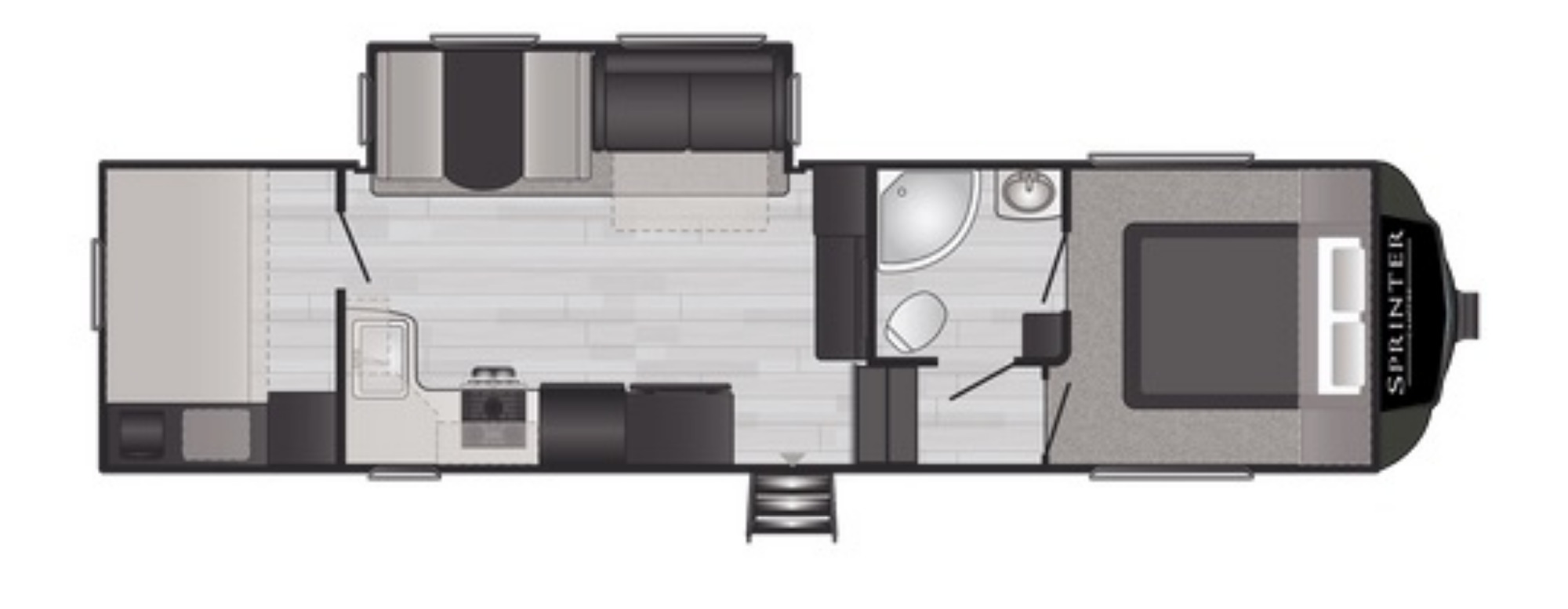 View Floor Plan for 2021 KEYSTONE SPRINTER F29BH
