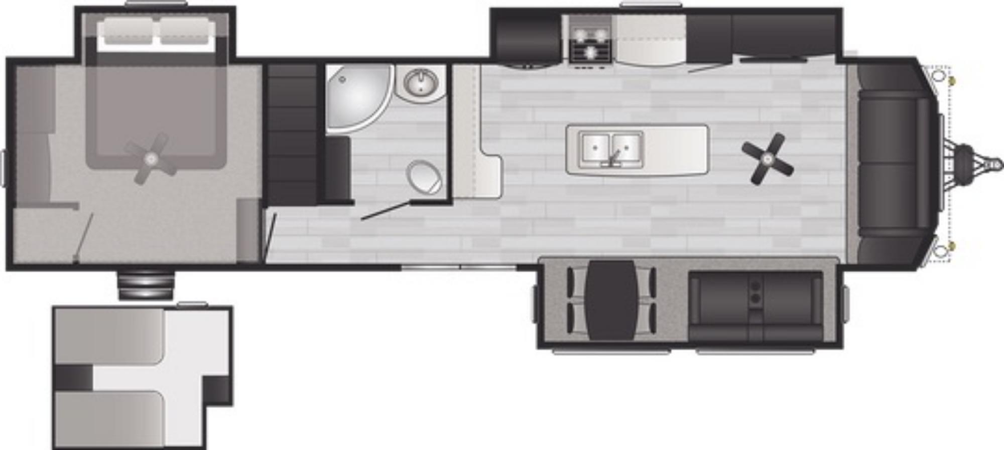 View Floor Plan for 2021 KEYSTONE RETREAT 391LOFT