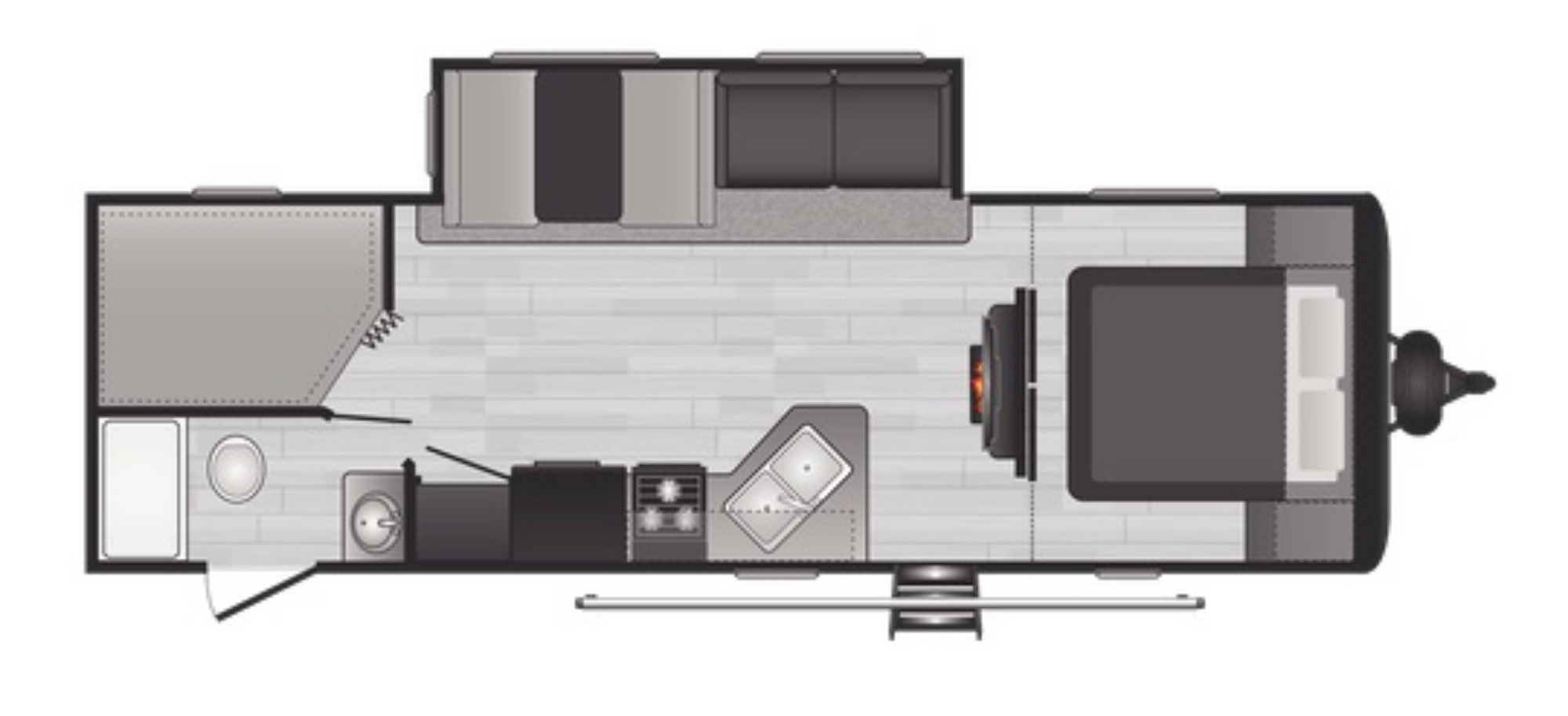 View Floor Plan for 2022 KEYSTONE HIDEOUT 272BH