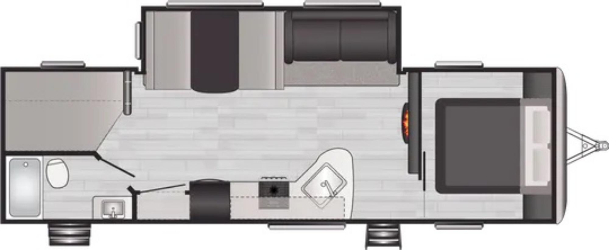 View Floor Plan for 2022 KEYSTONE SPRINGDALE 282BH