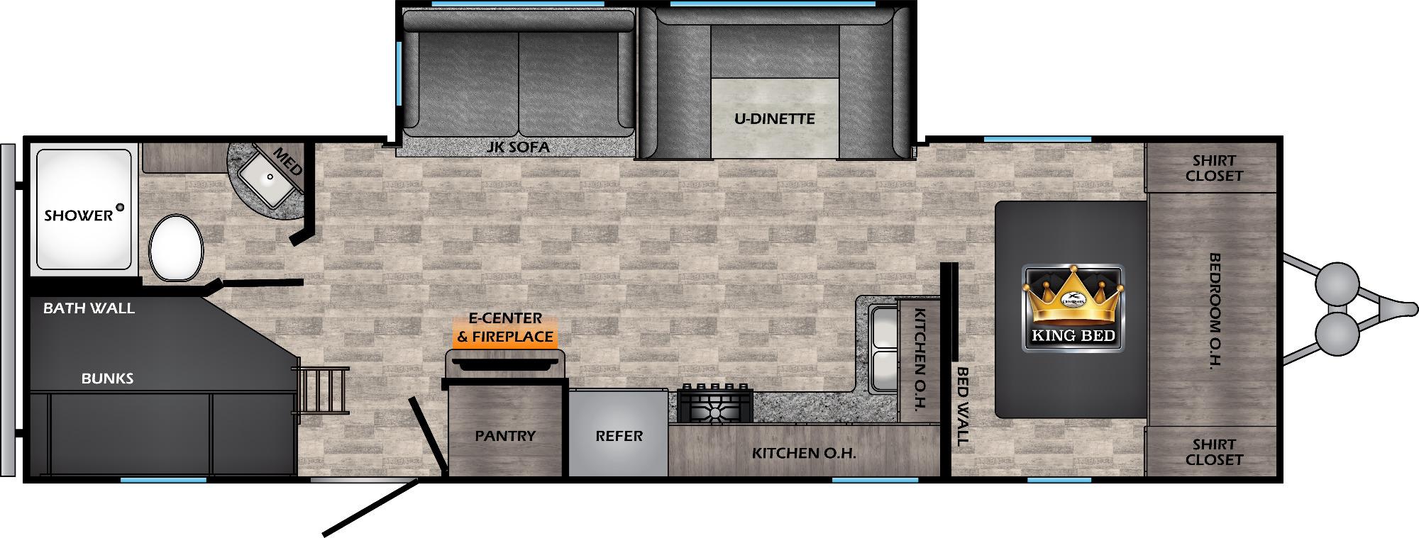 View Floor Plan for 2022 CROSSROADS VOLANTE 28BH