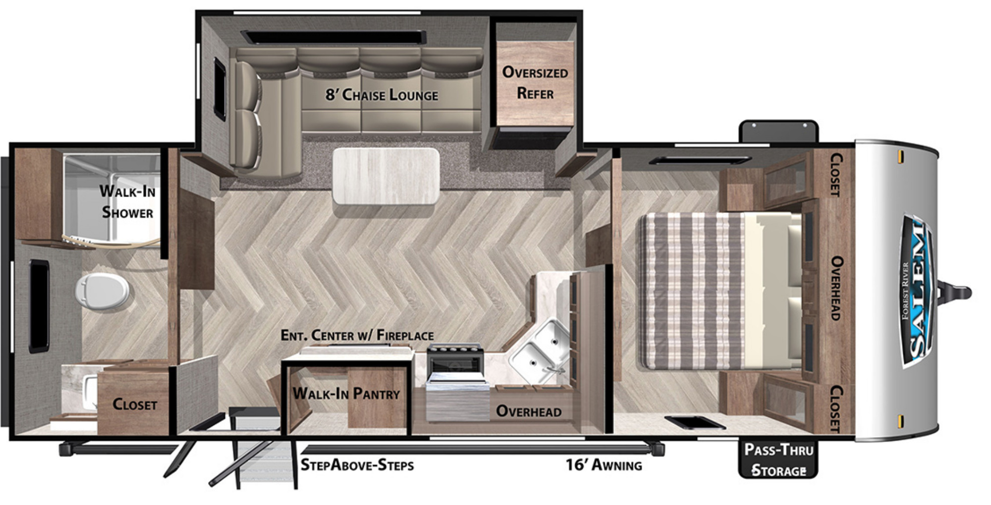 View Floor Plan for 2022 FOREST RIVER SALEM 22RBS