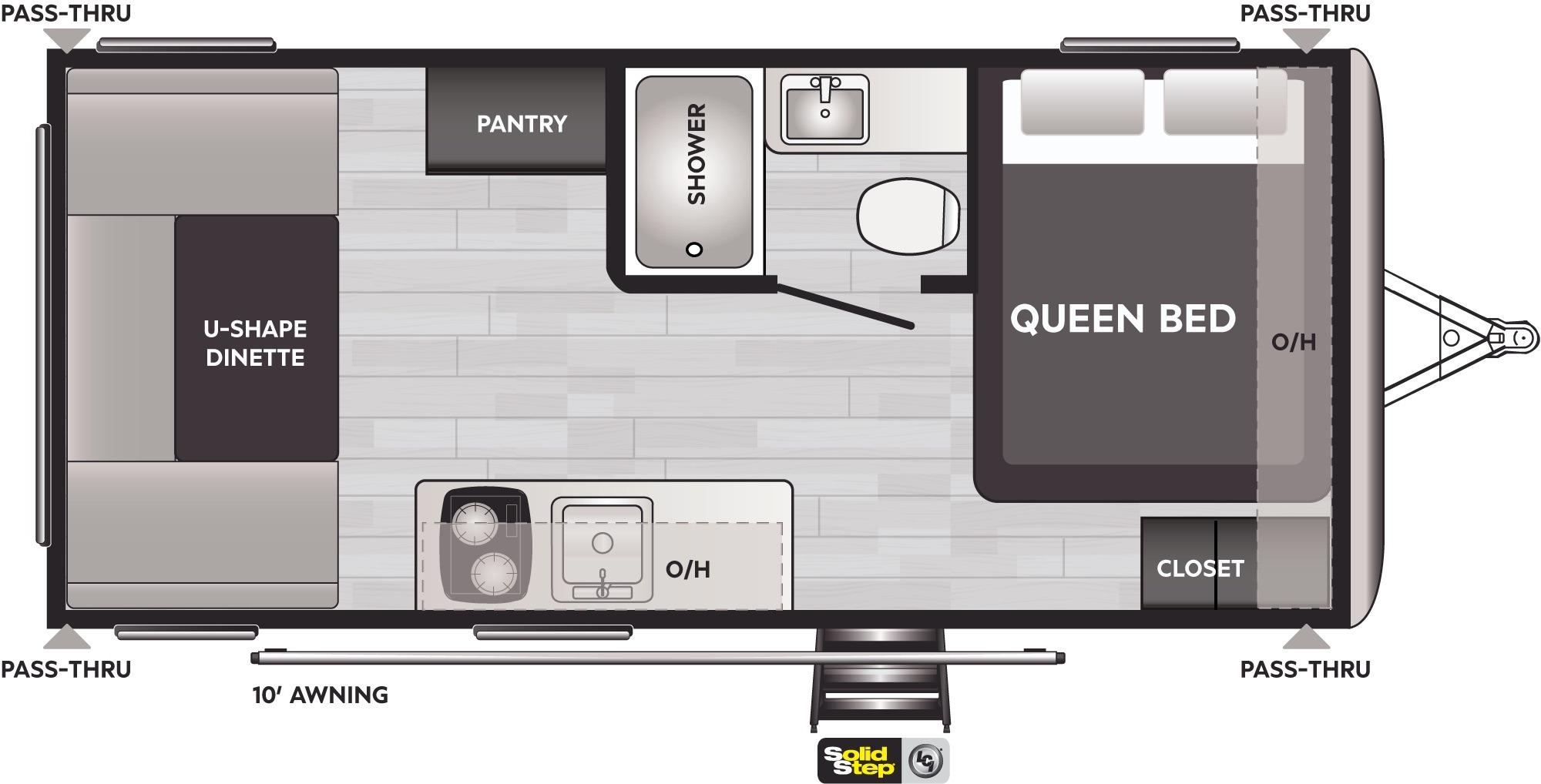 View Floor Plan for 2022 KEYSTONE SPRINGDALE 1750RD