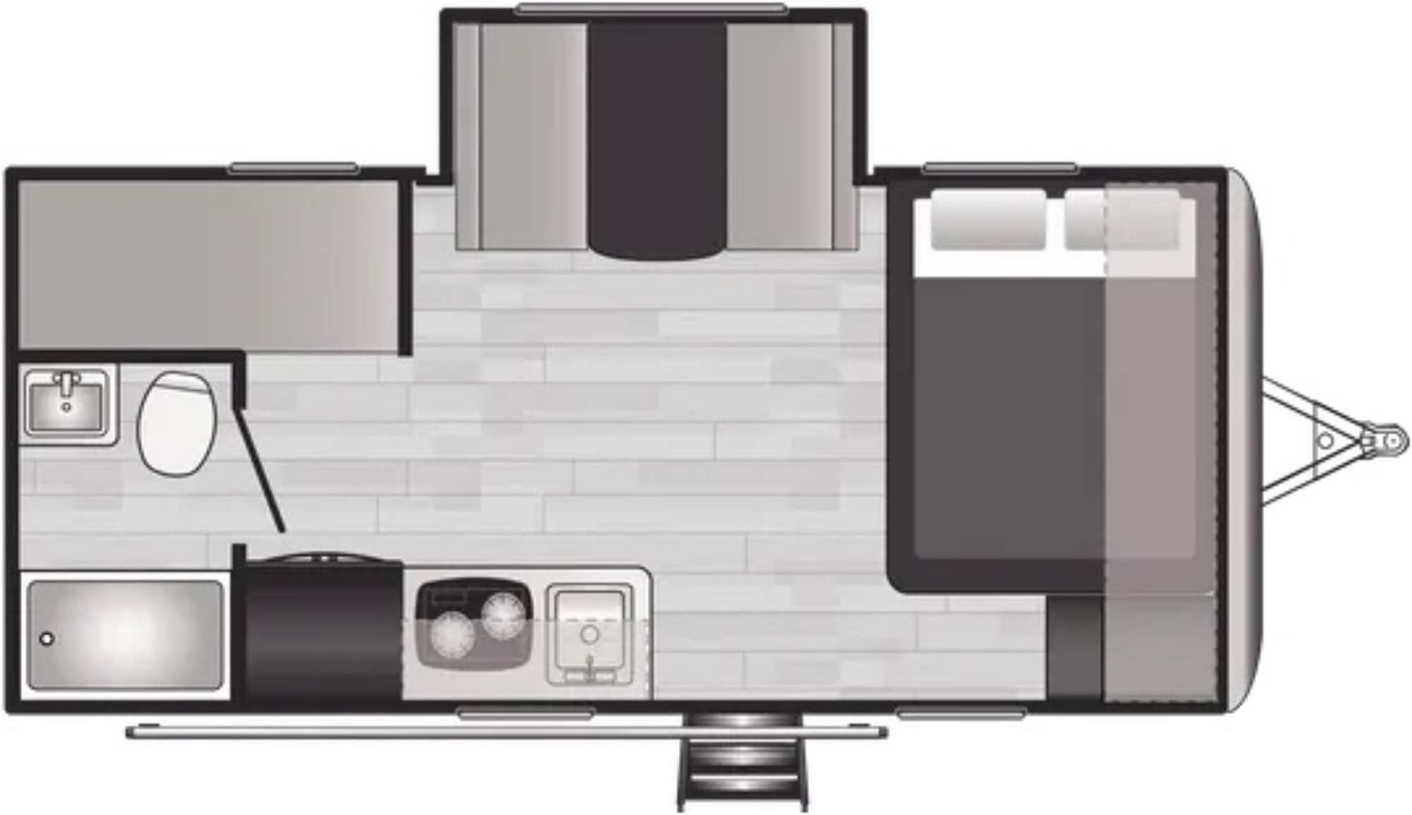 View Floor Plan for 2022 KEYSTONE SPRINGDALE 1760BH