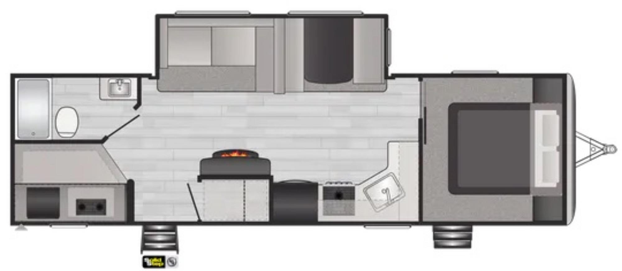View Floor Plan for 2022 KEYSTONE SPRINGDALE 280BH