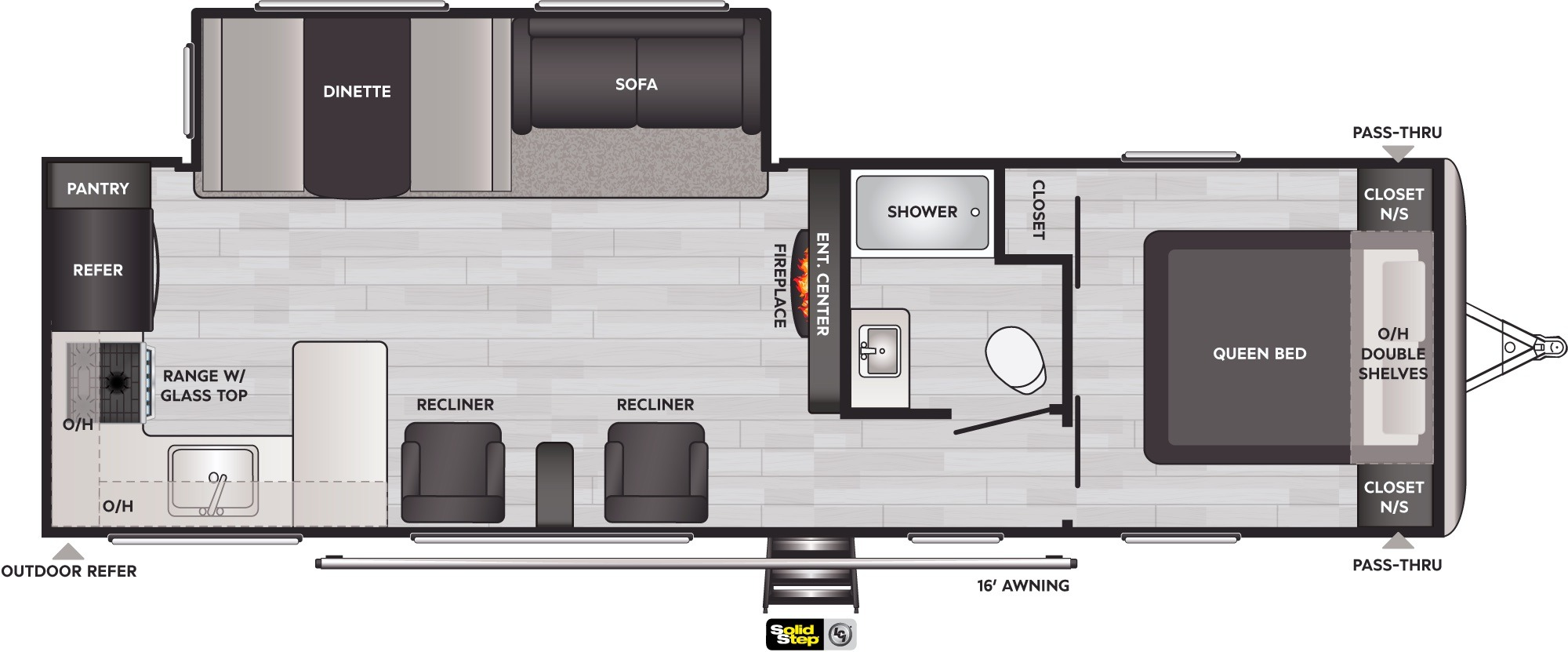 View Floor Plan for 2022 KEYSTONE SPRINGDALE 293RK