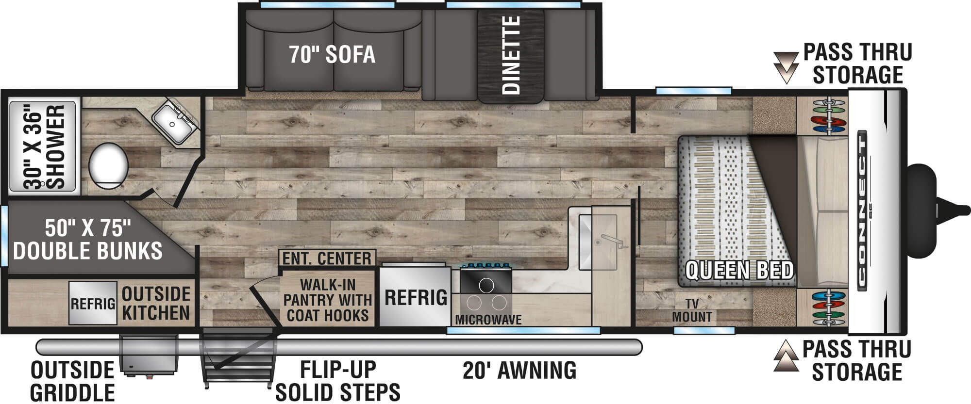 View Floor Plan for 2021 K-Z RV CONNECT SE 271BHKSE