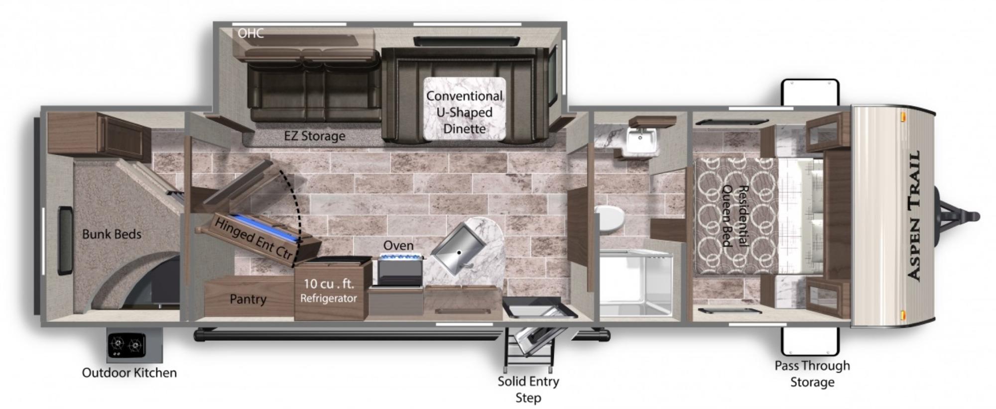 View Floor Plan for 2021 DUTCHMEN ASPEN TRAIL 3120BHS