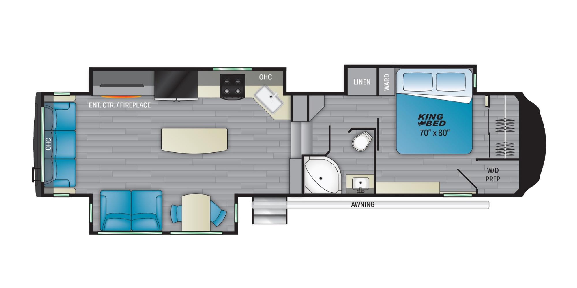 View Floor Plan for 2021 HEARTLAND BIGHORN 3502SB