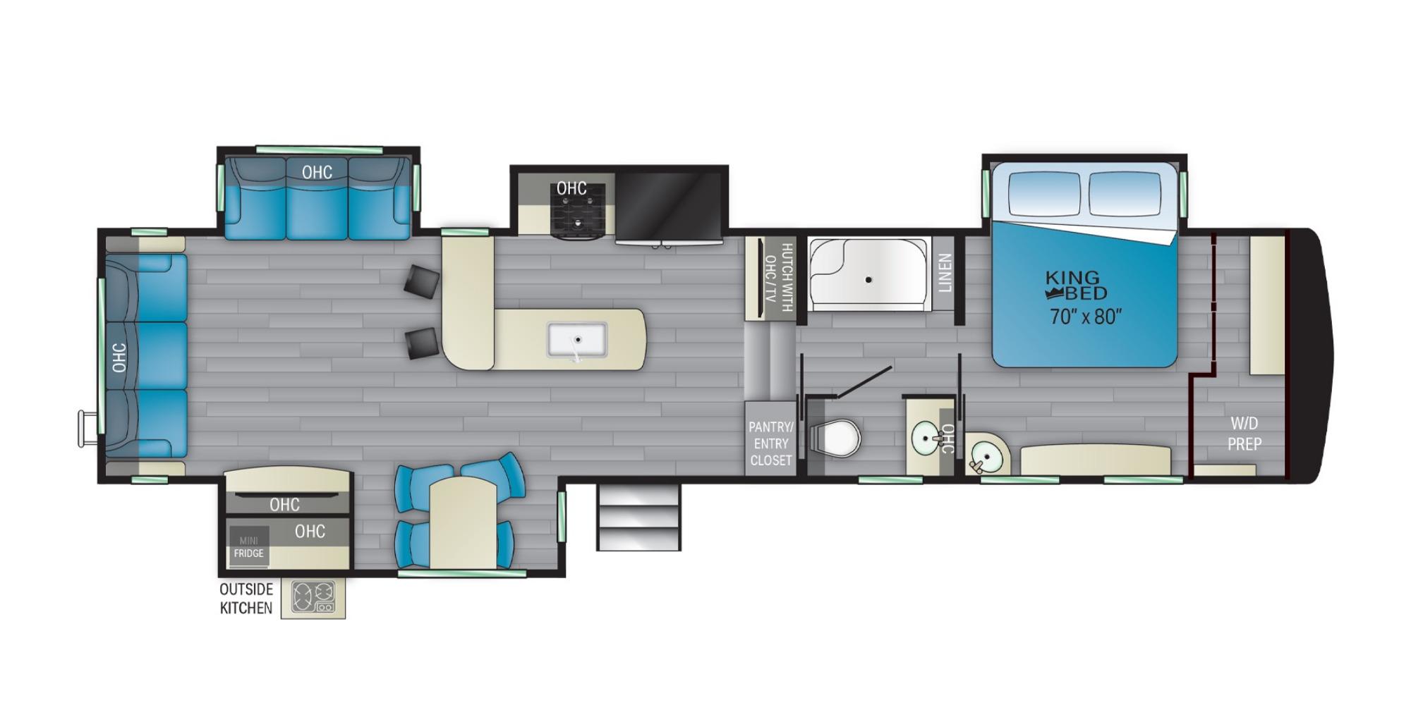 View Floor Plan for 2021 HEARTLAND BIGHORN TRAVELER 35BK