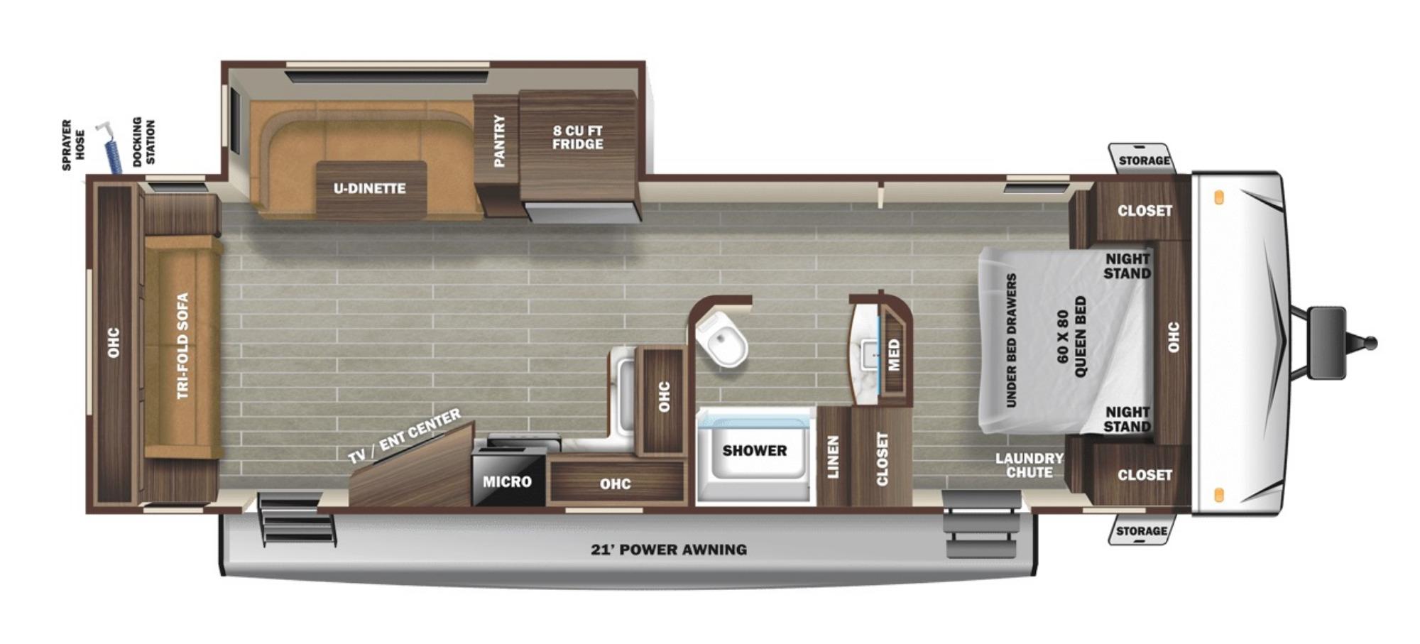View Floor Plan for 2021 STARCRAFT SUPER LITE 262RL