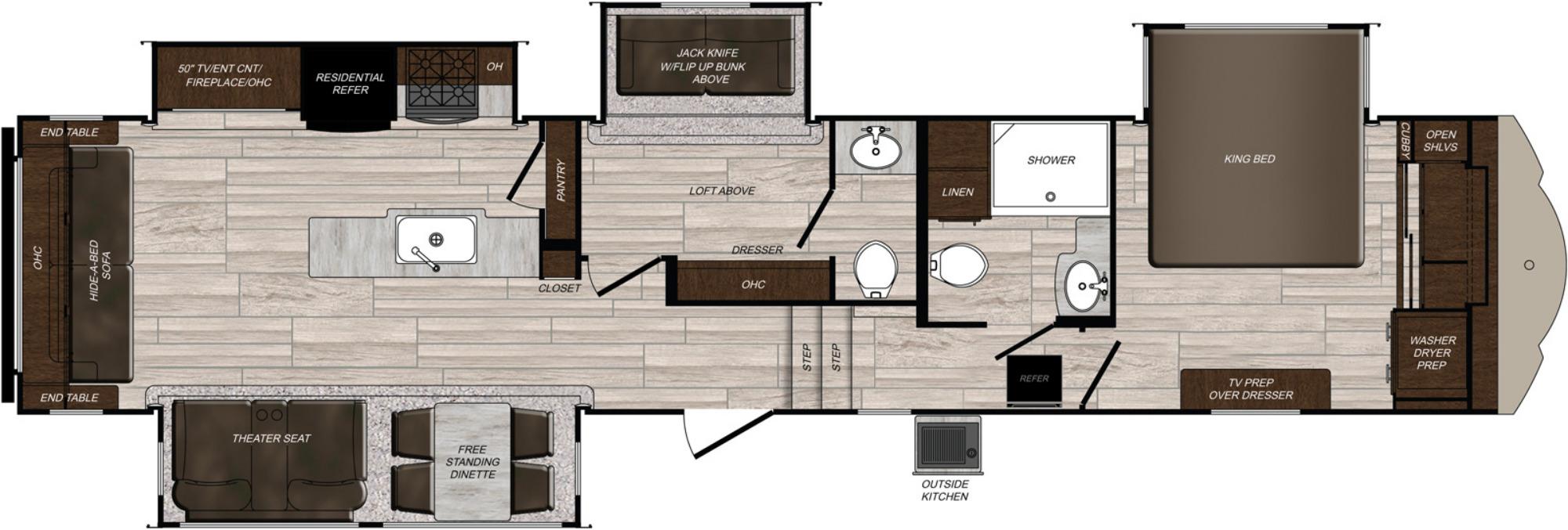 View Floor Plan for 2021 PRIME TIME SANIBEL 3902WB