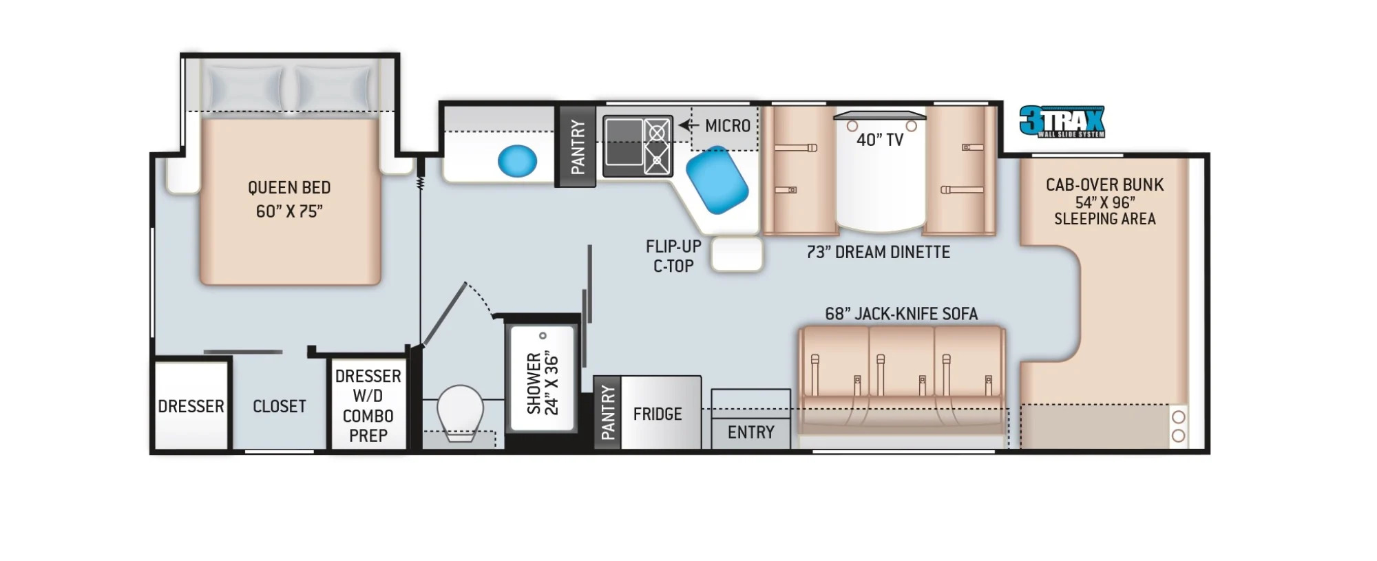 View Floor Plan for 2022 THOR CHATEAU 31B