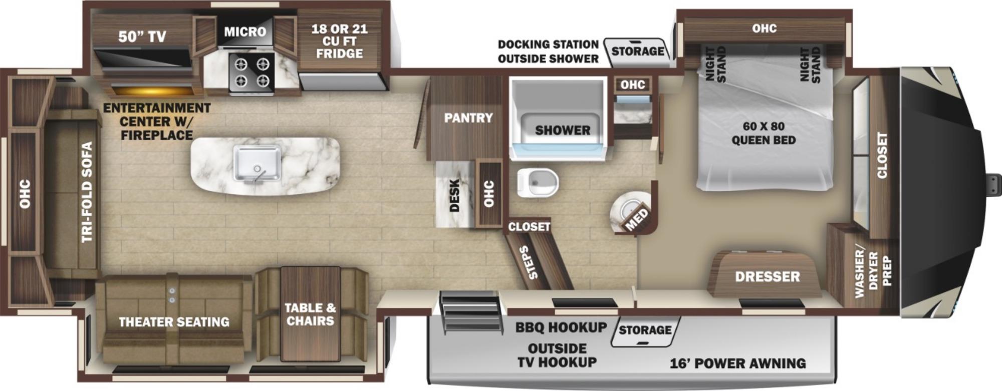 View Floor Plan for 2021 HIGHLAND RIDGE OPEN RANGE 314RLS