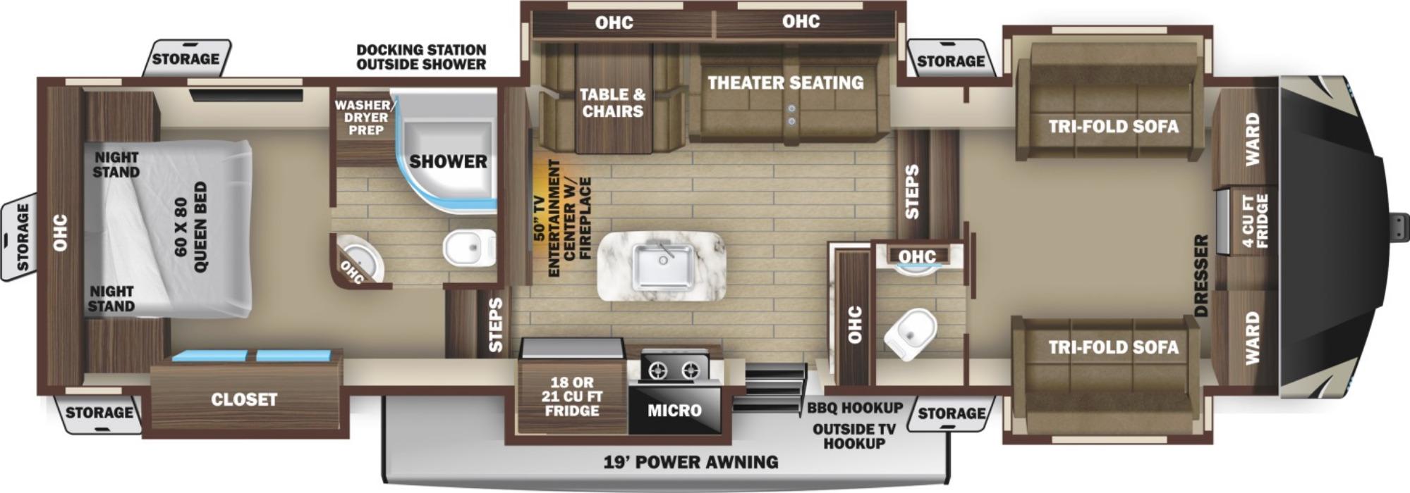 View Floor Plan for 2021 HIGHLAND RIDGE OPEN RANGE 376FBH