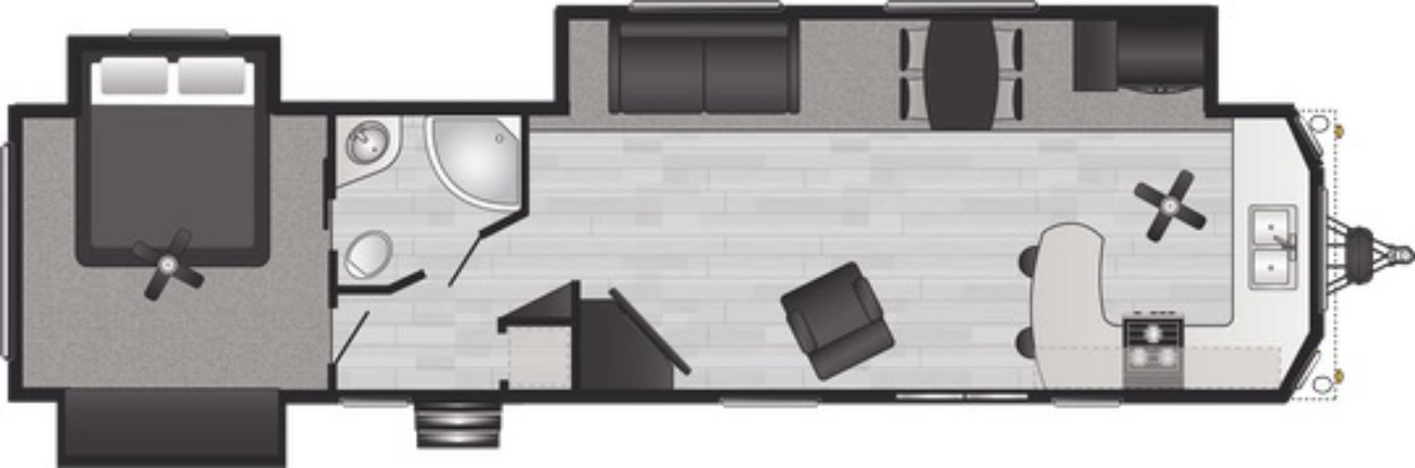 View Floor Plan for 2021 KEYSTONE RETREAT 391FKSS