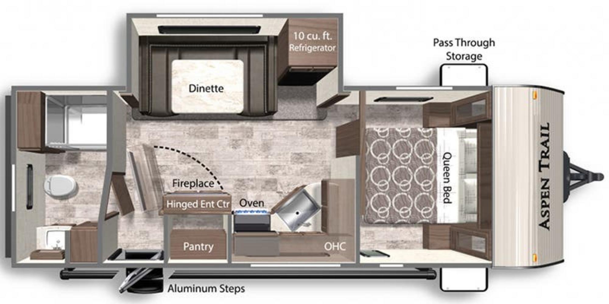 View Floor Plan for 2022 DUTCHMEN ASPEN TRAIL 2260RBS