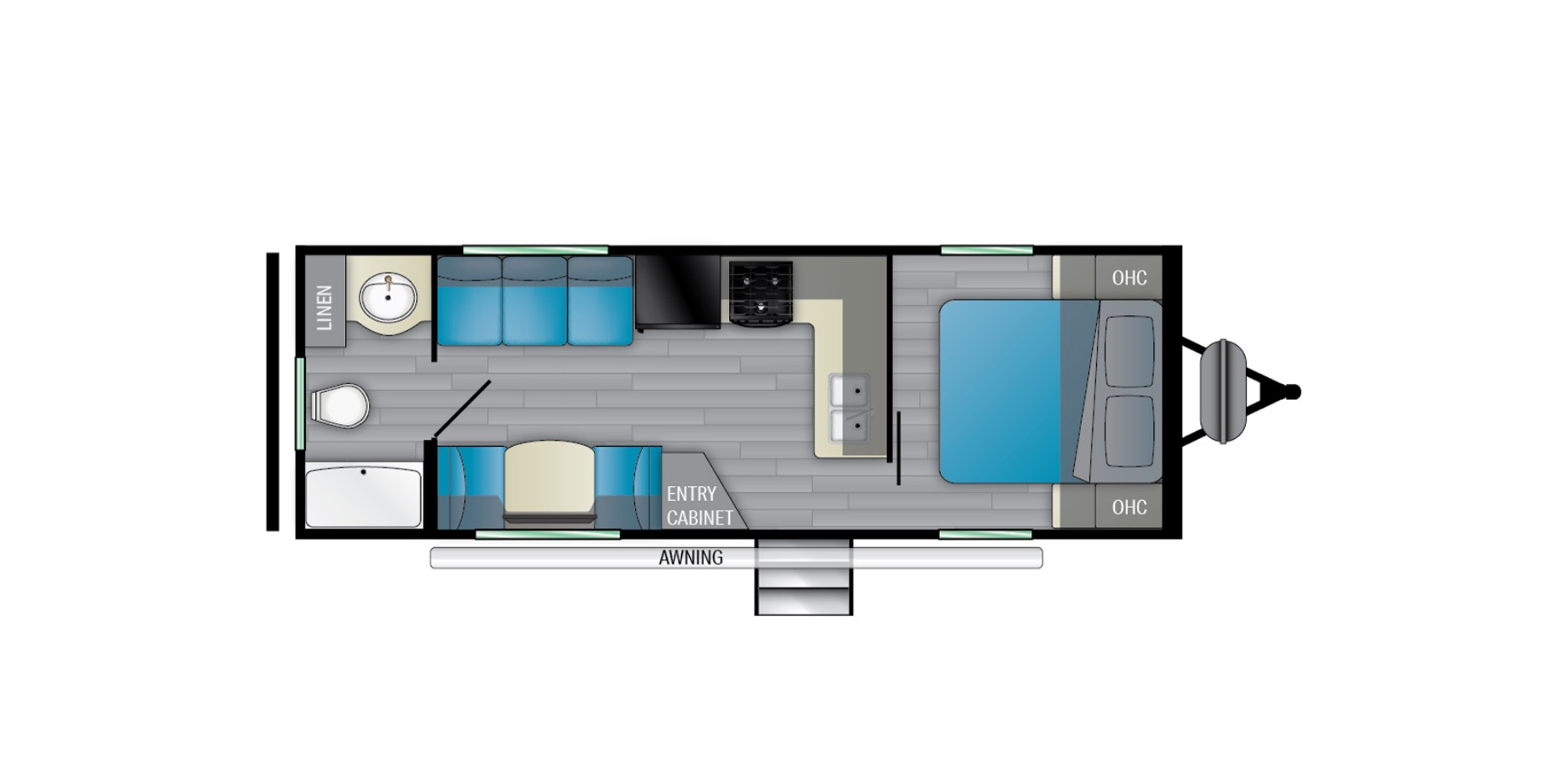 View Floor Plan for 2022 HEARTLAND PROWLER 240RB